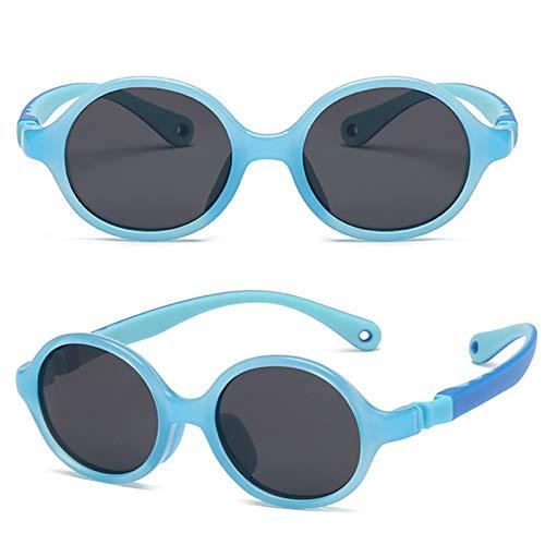 Gafas De Sol Polarizadas para Niños TR90 Flexible Frame Sports UV400 Protección Gafas para Niños Y Niñas Edad 3-12 Sky Blue
