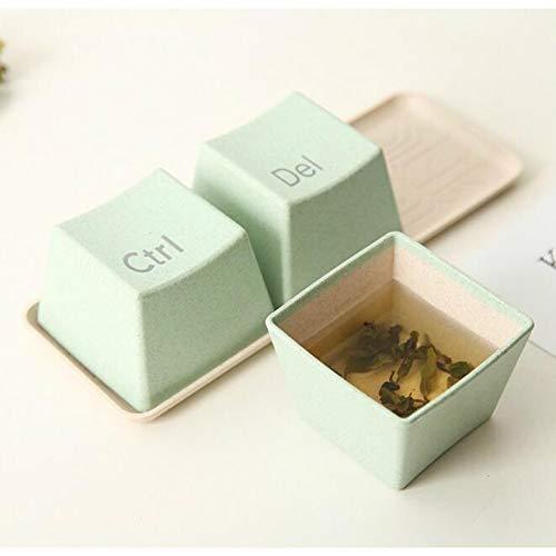HXAZGB 3 Teile/Satz Tastatur Tassen Mit Tablett Becher Tee Kaffee Milch Tasse Container Kreative Geschenke