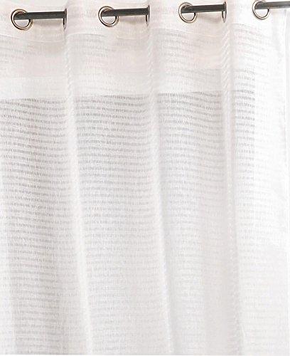 Linder Rideau Rayure à Œillet Polyester Beige Clair 145 x 240 cm