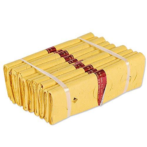 N / C Zwei Stücke Ahnengeld. Hergestellt aus hochwertigen Pflanzenfasermaterialien, geeignet für Qingming Festival, Zhongyuan Festival, Grabfegen usw.