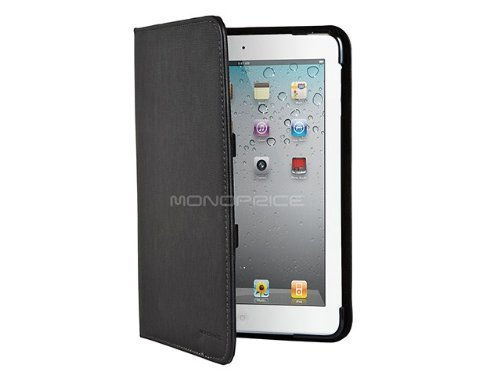 Monoprice Leatherette Stand/Cover for iPad Mini- Black (109782)