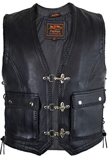 Vest Gilet en cuir Biker (XL)
