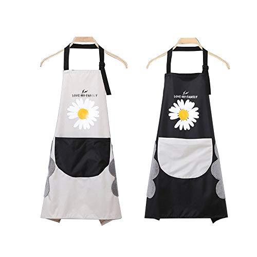 2 Piezas Delantales Impermeables Ajustables del Cocinero,