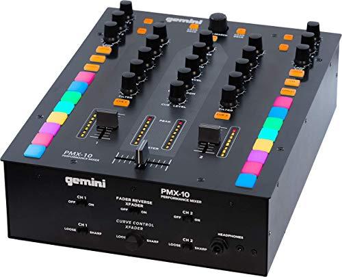 Gemini PMX-10 - Mezclador de 2 canales, controlador de DJ profesional con...