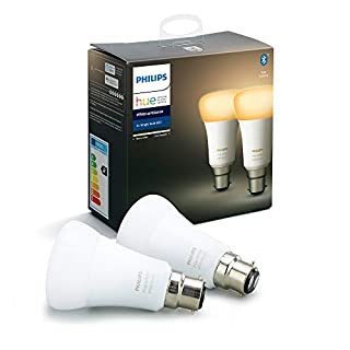Philips Hue White Ambiance Smart Bulb Twin Pack LED [B22 Bayonet Cap] with Bluetooth, Works with Alexa and Google Assistant, A Certified for Humans Device (B07V6GGJ6Z) | Amazon price tracker / tracking, Amazon price history charts, Amazon price watches, Amazon price drop alerts