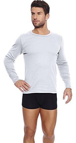 Italian Fashion IF T-Shirts à Manches Longues Homme P1C4 0333 (Blanc, XL)