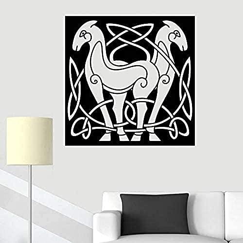 Pegatina de pared,diseño de su propia familia de calcomanías de pared,dormitorio murales,caballo abstracto animal vinilo de estilo calcomanía decoración del hogar imagen arte mural 49x49cm