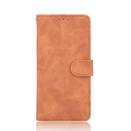 Preisvergleich Produktbild TOPOFU Handyhülle für Samsung Galaxy Note 20 Ultra hülle,  PU Leder Buch Stil Wallet Flip Cover mit Kartenschlitz Magnetisch SchutzHülle für Samsung Galaxy Note 20 Ultra (Braun)