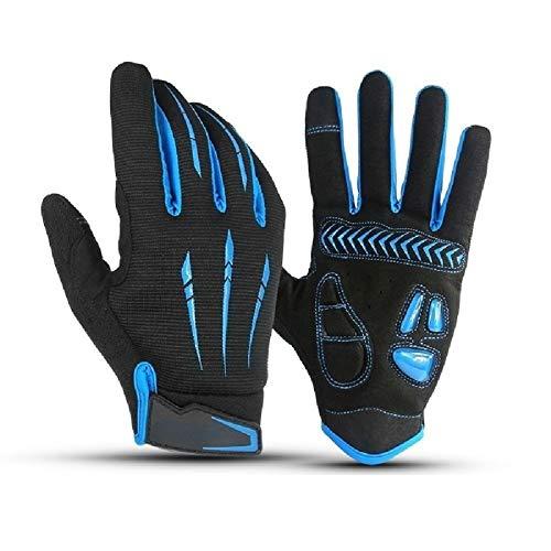 Men's Bicycle Gloves Half Finger Gel Pad Shock Absorber Mountain Bike Gloves Non-Slip Road Bike Gloves Breathable Sports Gloves (Size : 2XL)