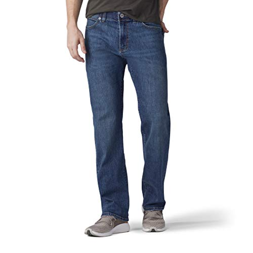 Lee Men's Big & Tall Performance Series Extreme Motion Relaxed Fit Jean, mega, 46W x 29L