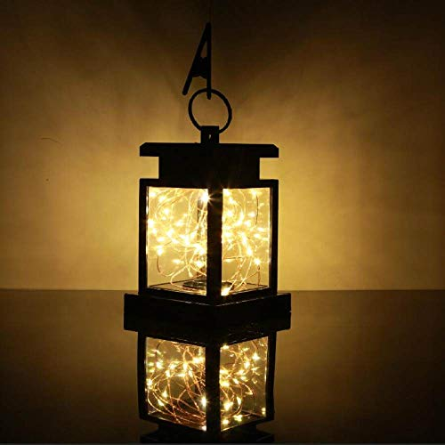 FENGTY Zonne-Licht Led Solar Candle Lantern Lights Opknoping Led Lamp Flikkerende Candle Lantern, For Garden Decoratieve Camping Tent Light Path Patio Yard, Light String Style