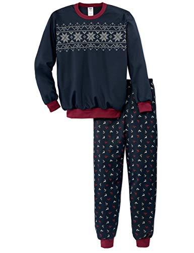 Calida Jungen Family & Friends Zweiteiliger Schlafanzug, Blau (Dark Sapphire 479), (Herstellergröße:152)