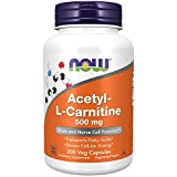 NOW Supplements, Acetyl-L Carnitine 500 mg, Amino Acid, Brain And Nerve Cell...