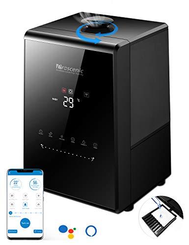 「2021年最新型」Proscenic 808C加湿器 超音波式 5.3L大容量 アプリ操作 30時間連続稼働 アロマ対応 乾燥対策 超静音 花粉対策 卓上 除菌 360℃自由回転 湿度センサー ミスト調整 PSE認証済み メーカー1年保証