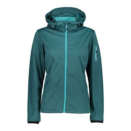CMP Damen Lightweight, Windproof and Waterproof Softshell Jacket WP 8.000 Jacke, Lake Melange, D40