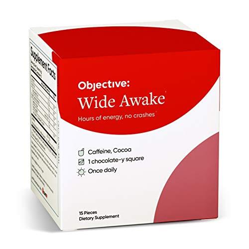 Objective - Wide Awake - 15 Dark Chocolate-y Caffeine Squares