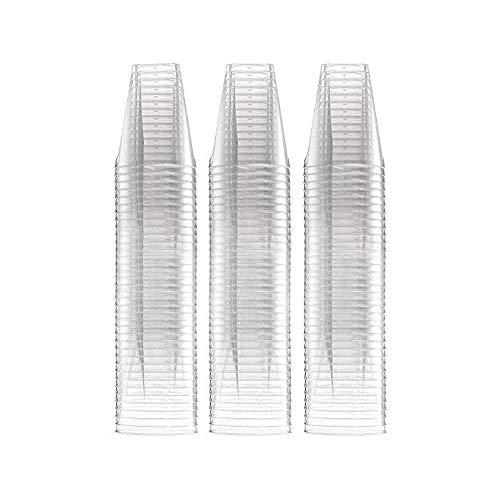aoory Paquete de 100 Copas para Chupitos de Plástico Resistente – Accesorio de Fiesta XL– Vasos Grandes Desechables para Shots – Copita de 60ml – Articulo de Vajilla para Bebidas