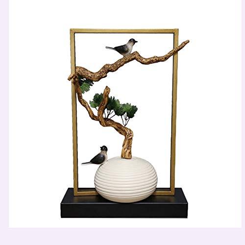 Decoración de escritorio Escultura decorativa decoración ilustraciones creativas estilo chino escritorio artesanías en casa sala de estar casa perfecta decoración decoración para el hogar, oficina