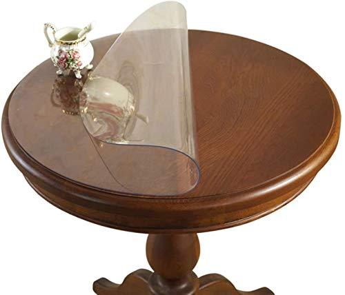 LBBGM Transparent bordsduk – högkvalitativ bordsduk lätt att rengöra och avtorkningsbar – Testad bordsfolie – skyddad bordduk – valbar storlek (0,5 mm 70 cm/27,6 tum)