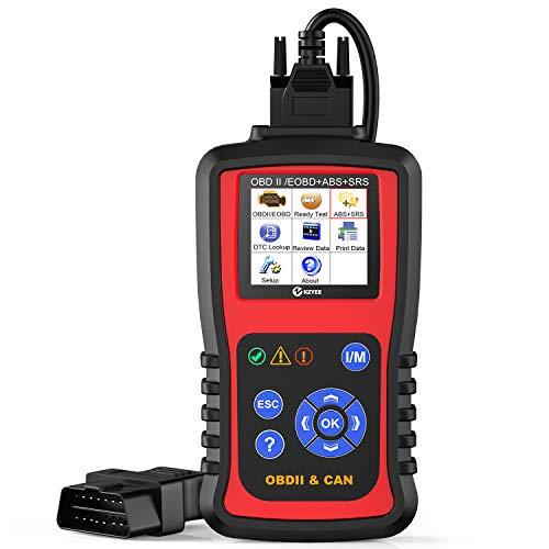 KZYEE KC501 OBD2 Scanner ABS SRS Airbag Code Reader OBD II Automotive Check Engine Light Car Diagnostic Scan Tool