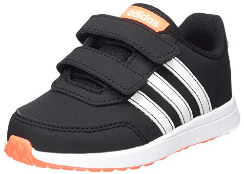 adidas Unisex-Baby VS Switch 2 CMF First Walker Shoe, Core Black/Footwear White/Solar Orange, 25 EU