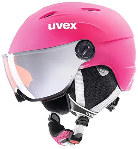 uvex Unisex Jugend, junior visor pro Skihelm, pink mat, 54-56 cm