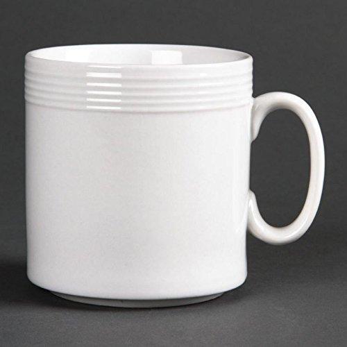 Olympia U088 linéaire Mug, Blanc (lot de 12)