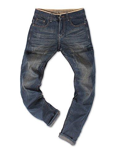 Demon&Hunter Basic Series Men's Regular Straight Leg Jeans DH8031-1NU(35)