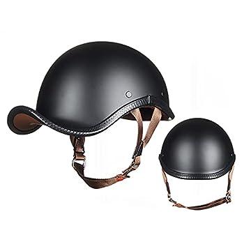DQ-Walker Bike Helmets for Adults Safety Helmet Motorcycle Helmets DOT Approved Baseball Cap Safety Protect Helmet Open Face Moped Helmets for Men Women Scooter ATV 61~62cm