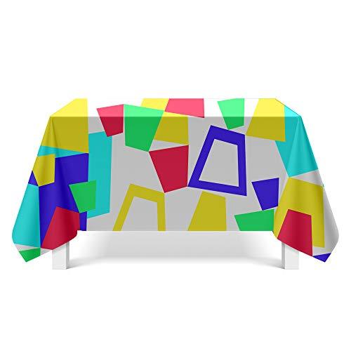 DREAMING-Geometrisches Muster Kunst Tischdecke Haushalt Tischdecke Tv-Schrank Couchtisch Tuch Runde Tisch Tischset 85cm * 85cm