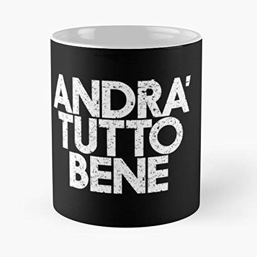Andrà Tutto Bene - Covid19 Slim Fit T-shirt Stai A Casa Coronavirus Stay Home Tee Co-vid Graphic Shit Shirt Design Don't Go Out Gift The Office 11 Ounces Funny White Coffee Mugs Rafan