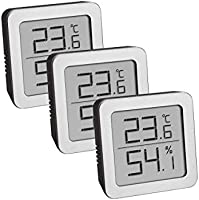 TFA Dostmann 3-Delige Set Hygrometer Digitaal Binnen, 95.2019.54, voor Vochtigheidsmeting en Temperatuurmeting, met...