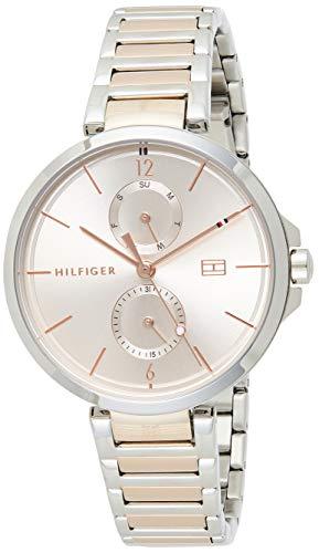 Tommy Hilfiger Reloj Analógico para Mujer de Cuarzo con Correa en Acero Inoxidable 1782127