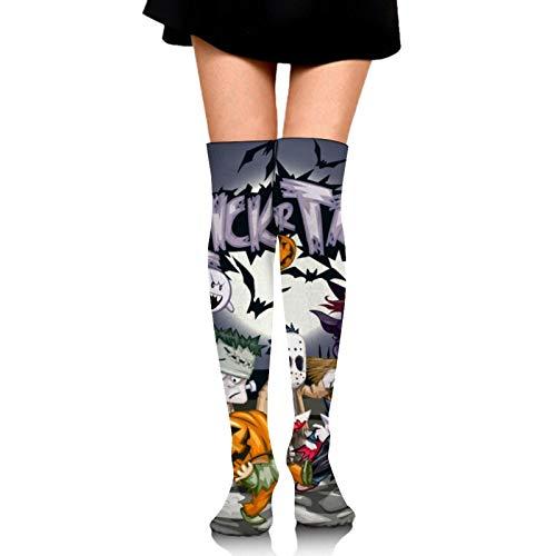 High Thigh Socks for Unisex Best Moisture Control white-Vampire Fangs Black Red (18)6 Athletic Compression Socks for Running, Travel, Basketball, Tennis