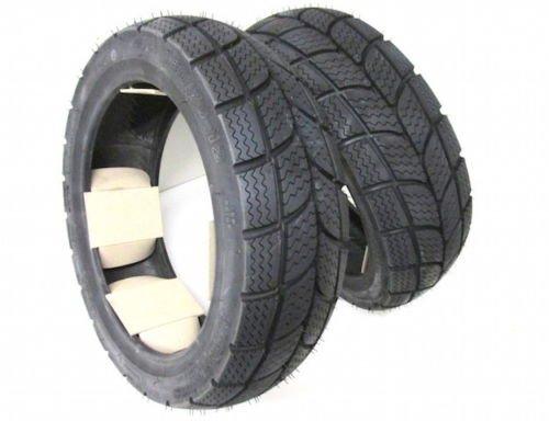 KENDA Winter Roller Reifen Set Satz - Vorne + Hinten 120/70-12 + 130/70-12 M+S Winterreifen z.B. Speedfight 1 2 CPI Keeway Yamaha MBK