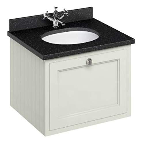 Casa Padrino Hänge-Waschschrank/Waschtisch mit Granitplatte und Schublade - Jugendstil Design, Farbe Badmöbel:Sand