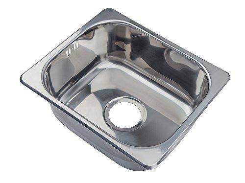 Piccolo Rettangolare Design Cucina Lavello in acciaio inox da incasso Lavello. Montaggio Dall' Alto (A11Mr)