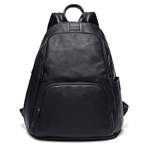 Women's leather backpack business bag school shoulder bag with large capacity women's casual daypack