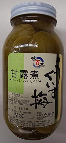 国産 ( 奈良、和歌山県産 ) うぐいす 梅甘露煮 1025g ( 固形500g ) 約30粒 梅