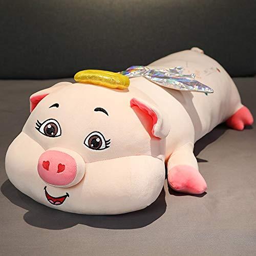 ZHANGWENJIE Lovely Angel Pig Toys Relleno Kawaii Animal Peluches para niños Almohada de Cama de Dibujos Animados Suave 100cm A