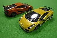京商164 ミニカーコレクションランボルギーニガヤルド スーパーレジェッラ 2台Set イエロー&オレンジ