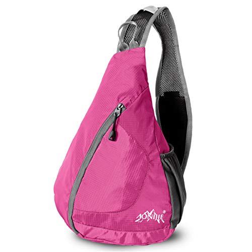 AONIJIE Leichter Faltbarer Schulter Rucksack Tasche für Reisen/Schule/Sport/Camping/Wandern (Rose)