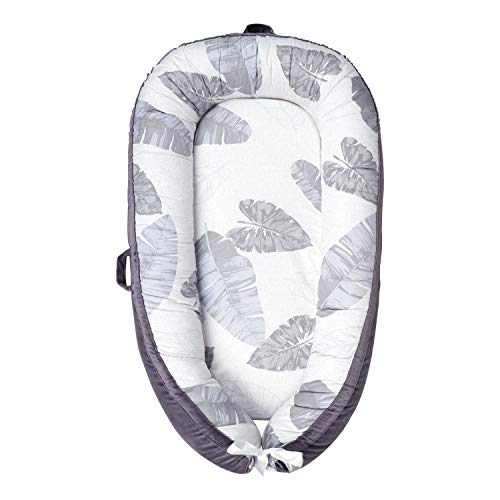 Baby Lounger Baby Nest Portable Baby Newborn Lounger Bed Pillow 100% Hypoallergenic Breathable Baby Nest Sleeper Bassinet Travel Crib Baby Bed Fallen Leaves