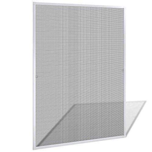 vidaXL Mosquitera de Ventana 120x140 cm Aluminio Blanco Pantalla Insecto Malla