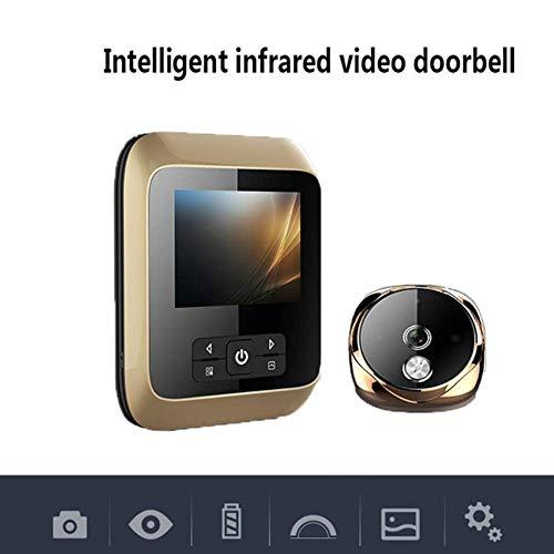 Mengen88 Visuele deurbel Smart Infrarood HD Nachtzicht Elektronisch kattenoog 3 inch LCD-scherm 170 ° groothoek geïntegreerd batterijvak Super Long Standby