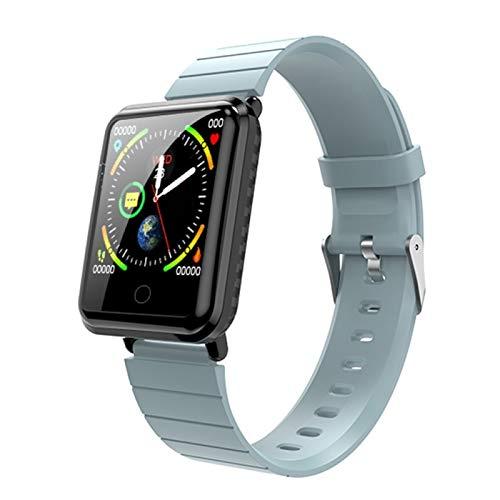LYB Relojes deportivos V6s con pantalla de color para caminar, contador de pasos, para niños, hombres, mujeres, pulseras inteligentes, pulsera inteligente (color: azul)
