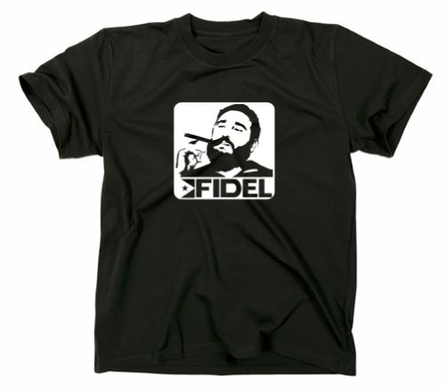 Coole-fun-t-shirts fidel castro t-shirt cuba Medium Noir - Noir