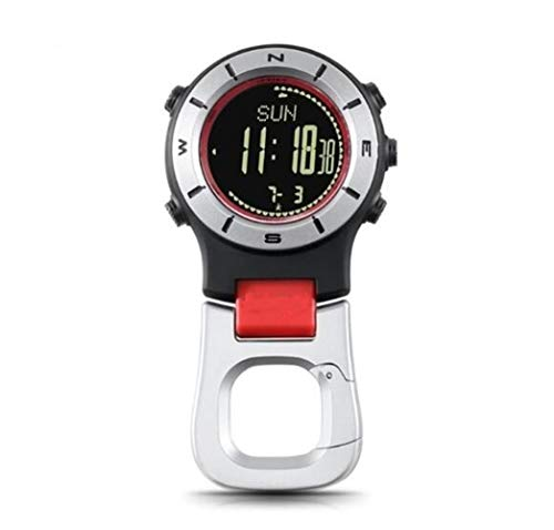 Zhaolan-Digital Tester Accesorios Reloj de Bolsillo Altímetro Brújula Militar Camping Climbing Aire Libre brújula Pesca Senderismo Escalada Accesorios de yate (Color : Red White)