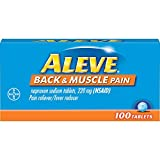 Aleve Back and Muscle Pain Tablets, Fast Acting All Day Targeted Relief for Headache, Muscle, and Back Pain, Naproxen Sodium Capsules, 220 mg, 100 Count