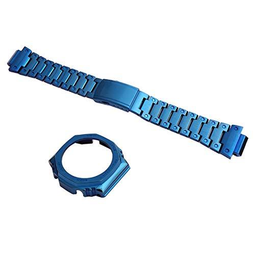 TGGFA Correa de acero inoxidable 316 modificada para hombre, accesorios de reloj para deportes al aire libre GA2110 2100 (color de la correa: correa 1, ancho de la correa: 2100)